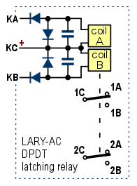 bistable dpdt latching relay with screw terminals rh azatrax com Relay Schematic Relay Switch