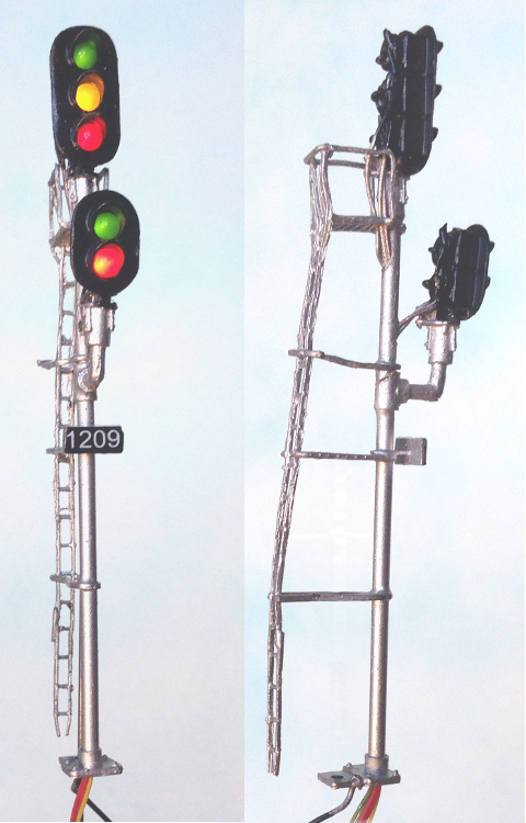 HO scale block signals, dwarf signals with LEDs