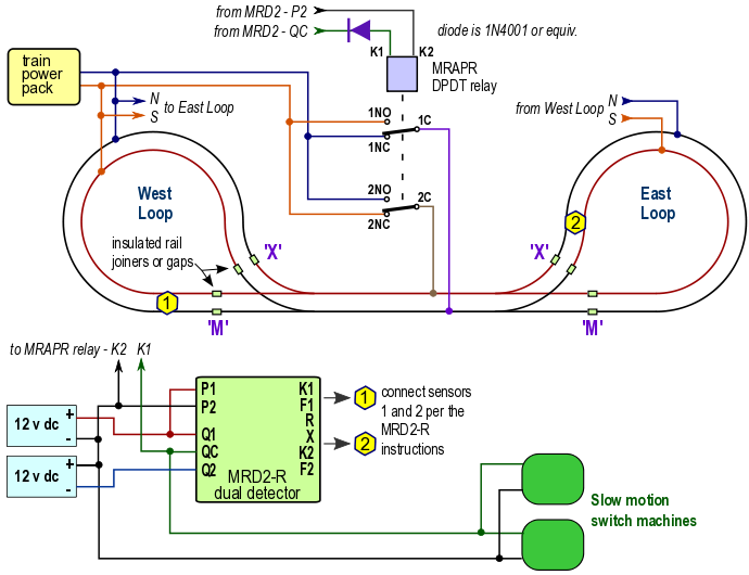 twin loop wiring with relay