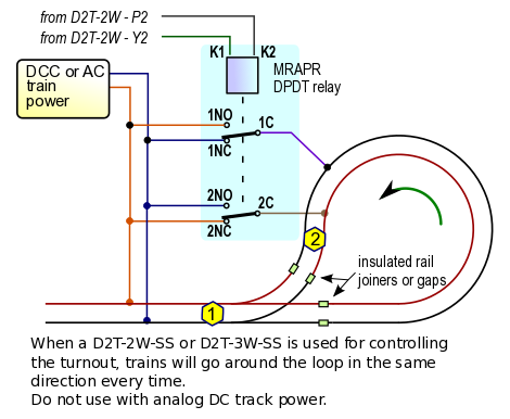 [GJFJ_338]  Automatic single reversing loop conrol for DC, DCC or AC | Reverse Loop Track Wiring Dcc |  | Azatrax