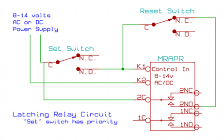 latching relay circuit schematic rh azatrax com 12 Volt Horn Relay Wiring Diagram Automotive Relay Wiring Diagram