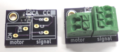 Dwarf signal circuit for slow motion switch machines on