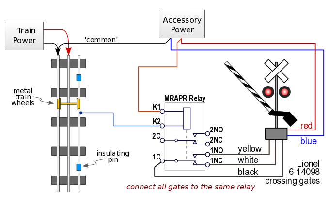 relay train detector circuit for 3